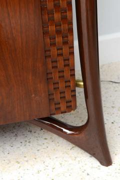 Piet Hein Danish Modern Walnut and Brass Dresser or Buffet Piet Hein - 358146