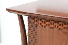 Piet Hein Danish Modern Walnut and Brass Dresser or Buffet Piet Hein - 358147