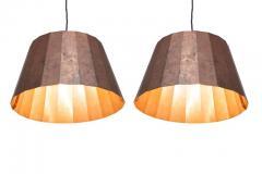 Piet Hein Pleated Copper Lamps by Piet Hein Eek - 457136