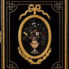 Pietra dura brass and ormolu mounted ebonised wood vitrine - 1516309