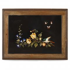 Pietra dura inlay Italian coffee table - 1443645