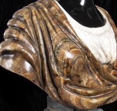Pietro Calvi Pair of Marble Busts of Moors By Pietro Calvi in Belgium Black and Specimen Onyx - 1664741