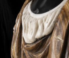 Pietro Calvi Pair of Marble Busts of Moors By Pietro Calvi in Belgium Black and Specimen Onyx - 1664743