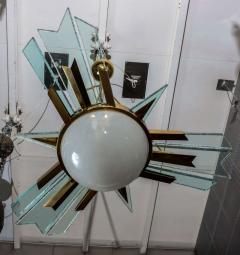 Pietro Chiesa 1960s italian chandelier - 726601