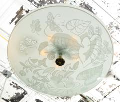 Pietro Chiesa Etched Glass Ceiling Fixture by Pietro Chiesa for Fontana Arte - 645191