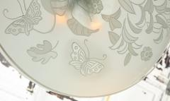 Pietro Chiesa Etched Glass Ceiling Fixture by Pietro Chiesa for Fontana Arte - 645192