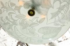 Pietro Chiesa Etched Glass Ceiling Fixture by Pietro Chiesa for Fontana Arte - 645193