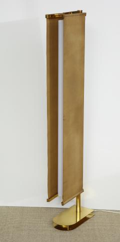 Pietro Chiesa FLOOR LAMP WITH LINEN PANEL SHADES BY PIETRO CHIESA FOR FONTANA ARTE - 1845894