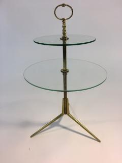 Pietro Chiesa Midcentury Glass and Brass Tripod Table attributed to Pietro Chiesa - 419870
