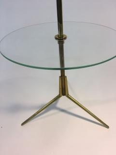 Pietro Chiesa Midcentury Glass and Brass Tripod Table attributed to Pietro Chiesa - 419872
