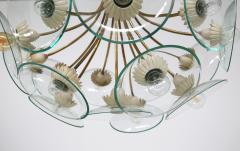 Pietro Chiesa Pietro Chiesa Rare Italian chandelier for Fontana Arte in brass and crystal 40 - 1576277