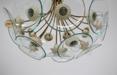Pietro Chiesa Pietro Chiesa Rare Italian chandelier for Fontana Arte in brass and crystal 40 - 1576282