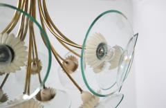Pietro Chiesa Pietro Chiesa Rare Italian chandelier for Fontana Arte in brass and crystal 40 - 1576284