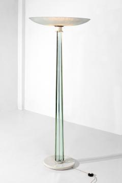 Pietro Chiesa Pietro Chiesa for Fontana Arte MidCentury white and crystal Floor Lamp 1930s - 1321655