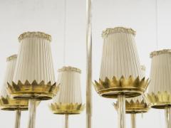 Pietro Chiesa Rare brass chandelier by Pietro Chiesa circa 1940 - 1055972