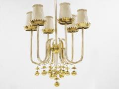 Pietro Chiesa Rare brass chandelier by Pietro Chiesa circa 1940 - 1055973