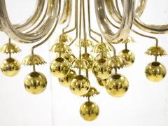Pietro Chiesa Rare brass chandelier by Pietro Chiesa circa 1940 - 1055974
