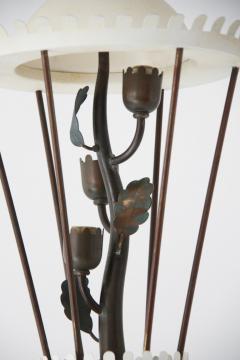 Pietro Chiesa White Patina and Brass Floor Lamp - 606715