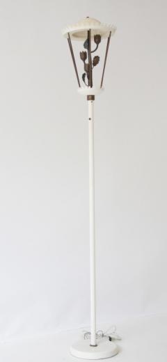 Pietro Chiesa White Patina and Brass Floor Lamp - 606716