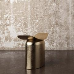 Pietro Franceschini Contemporary Aged Brass Stool by Pietro Franceschini - 1481413