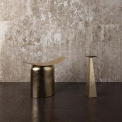Pietro Franceschini Contemporary Aged Brass Stool by Pietro Franceschini - 1481419