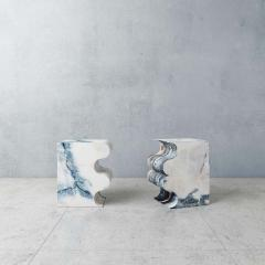 Pietro Franceschini Paonazzo Marble Sculpted Stool by Pietro Franceschini - 1567970