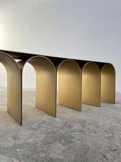 Pietro Franceschini Steel Gold Arch Bench by Pietro Franceschini - 1758715