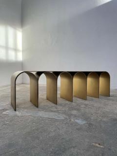 Pietro Franceschini Steel Gold Arch Bench by Pietro Franceschini - 1758716
