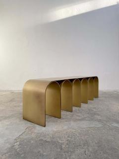Pietro Franceschini Steel Gold Arch Bench by Pietro Franceschini - 1758717