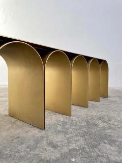 Pietro Franceschini Steel Gold Arch Bench by Pietro Franceschini - 1758719
