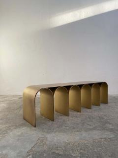 Pietro Franceschini Steel Gold Arch Bench by Pietro Franceschini - 1758723