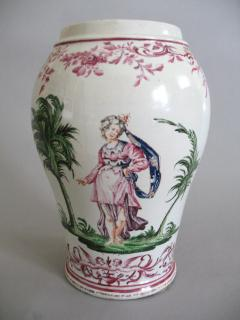 Pietro Leidi Sasuolo A Ceramic Vase with Polychrome Decoration of a Woman Between Palm Trees - 308018