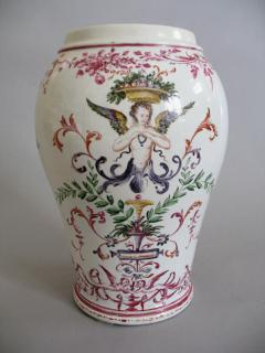 Pietro Leidi Sasuolo A Ceramic Vase with Polychrome Decoration of a Woman Between Palm Trees - 308019