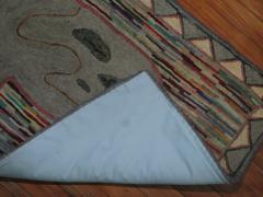Pig Pictorial American Hooked Rug rug no r4951 - 1187726