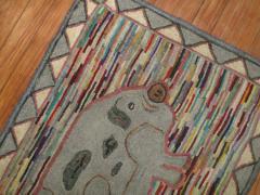 Pig Pictorial American Hooked Rug rug no r4951 - 1187750
