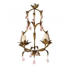 Pink Crystal Sconces - 1325718