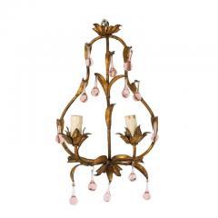 Pink Crystal Sconces - 1325719
