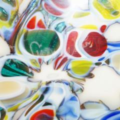 Pino Signoretto Pino Signoretto 1980s Pair of Silver Green Blue Yellow Red Murano Glass Bottles - 625030