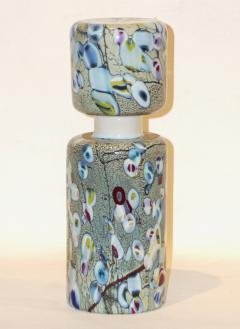 Pino Signoretto Pino Signoretto 1980s Pair of Silver Green Blue Yellow Red Murano Glass Bottles - 625034