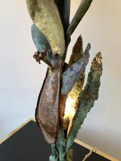 Plant Lamp Lacquered Metal Brass France 1970s - 944493