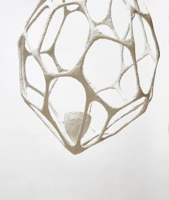 Plaster Covered Metal Cocoon Chandelier - 1173810