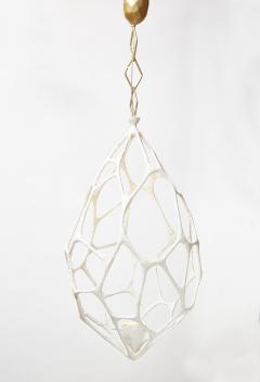 Plaster Covered Metal Cocoon Chandelier - 1173811