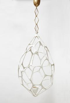 Plaster Covered Metal Cocoon Chandelier - 1173812
