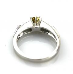 Platinum 1 CT Elegant Natural Canary Diamond Engagement Wedding Stackable Ring - 1770955