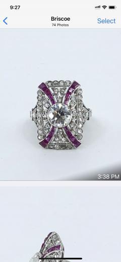 Platinum Deco Diamond Ring - 1754910