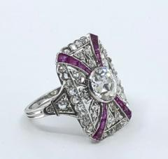 Platinum Deco Diamond Ring - 1754920