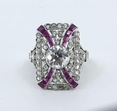 Platinum Deco Diamond Ring - 1754921