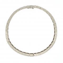 Platinum Diamond Line Bangle 42 stones 5 5 6 cts TDW - 1284123