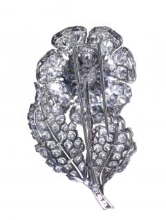Platinum and Diamond Flower Brooch Circa 1950 - 154355