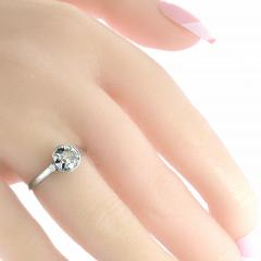 Platinum and Diamond Ring - 1201235